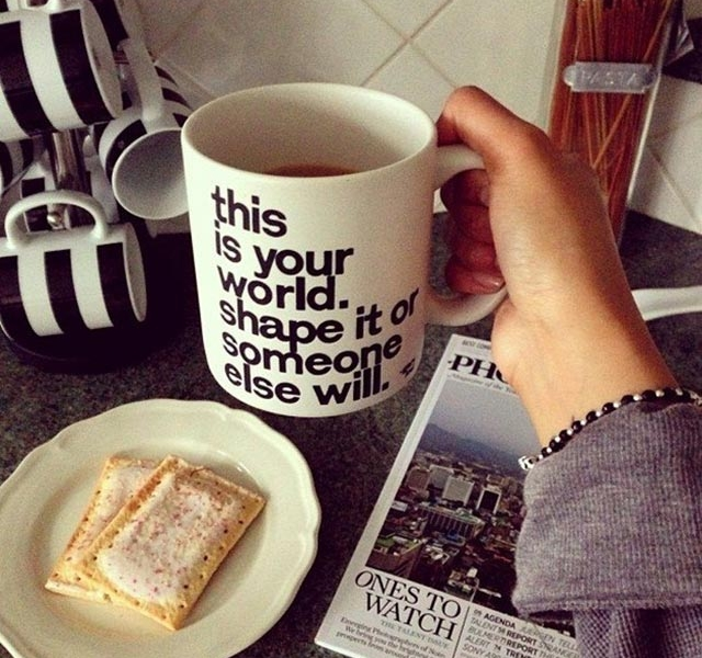 """Motivational """"This is Your World"""" Mug"""