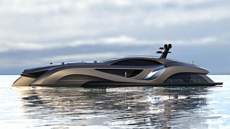 Futuristische luxusyachten  An Board der $24 Millionen Exhibitionist Yacht von Gray Design