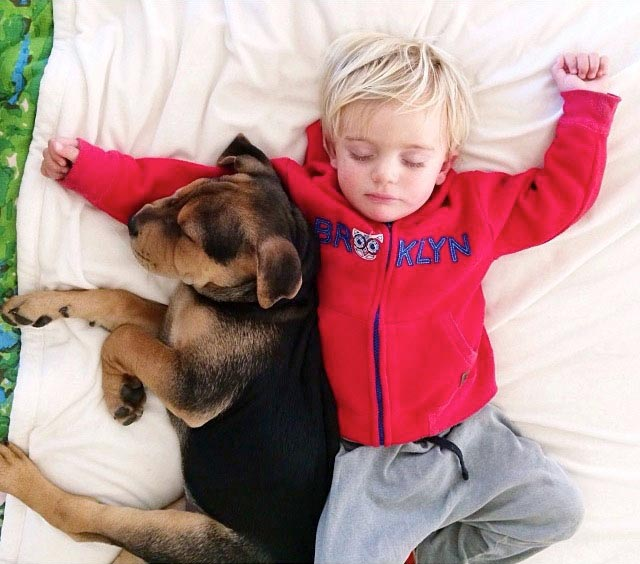 Napping with baby Beau by Jessica Shyba 4