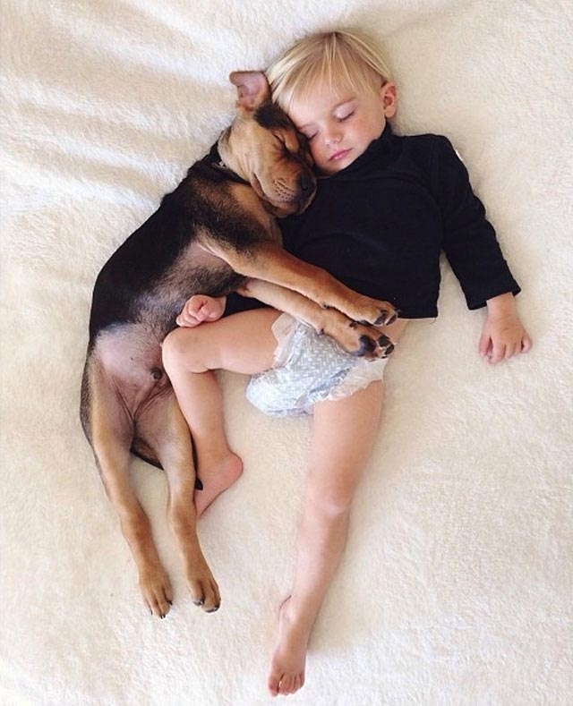Napping with baby Beau by Jessica Shyba 7