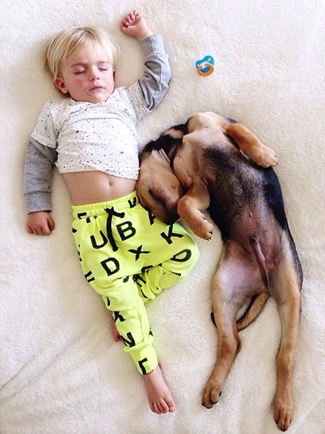 Napping with baby Beau by Jessica Shyba 10