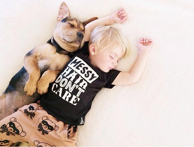 Napping with baby Beau by Jessica Shyba 1