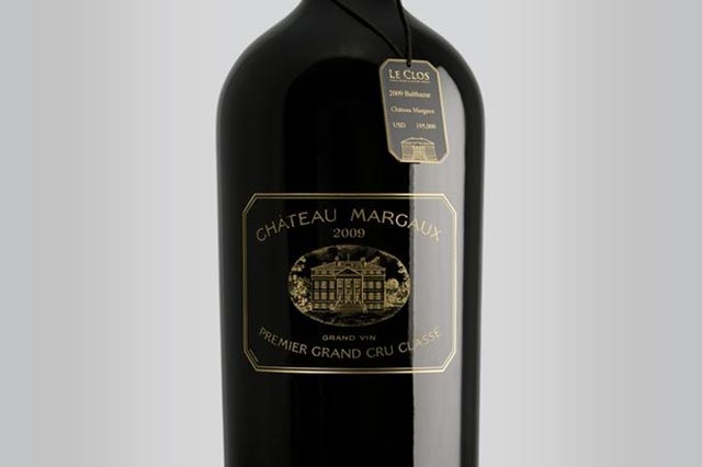 This is the most expensive Wine: Chateau Margaux Balthazar
