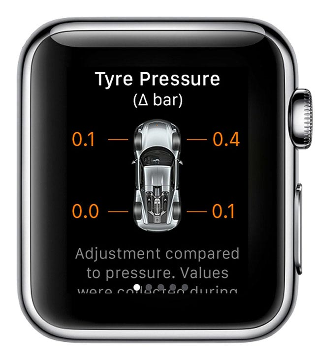 Porsche Car Connect for Apple Watch 2