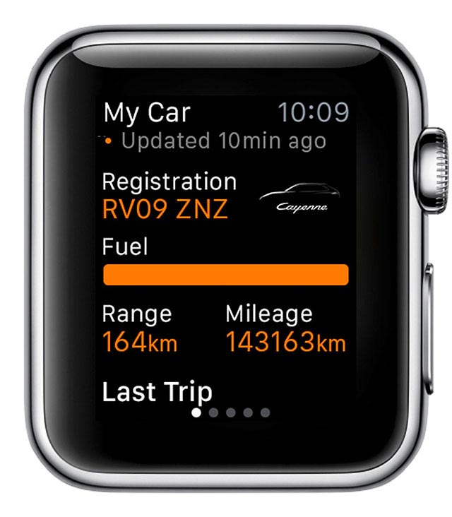 Porsche Car Connect for Apple Watch 5