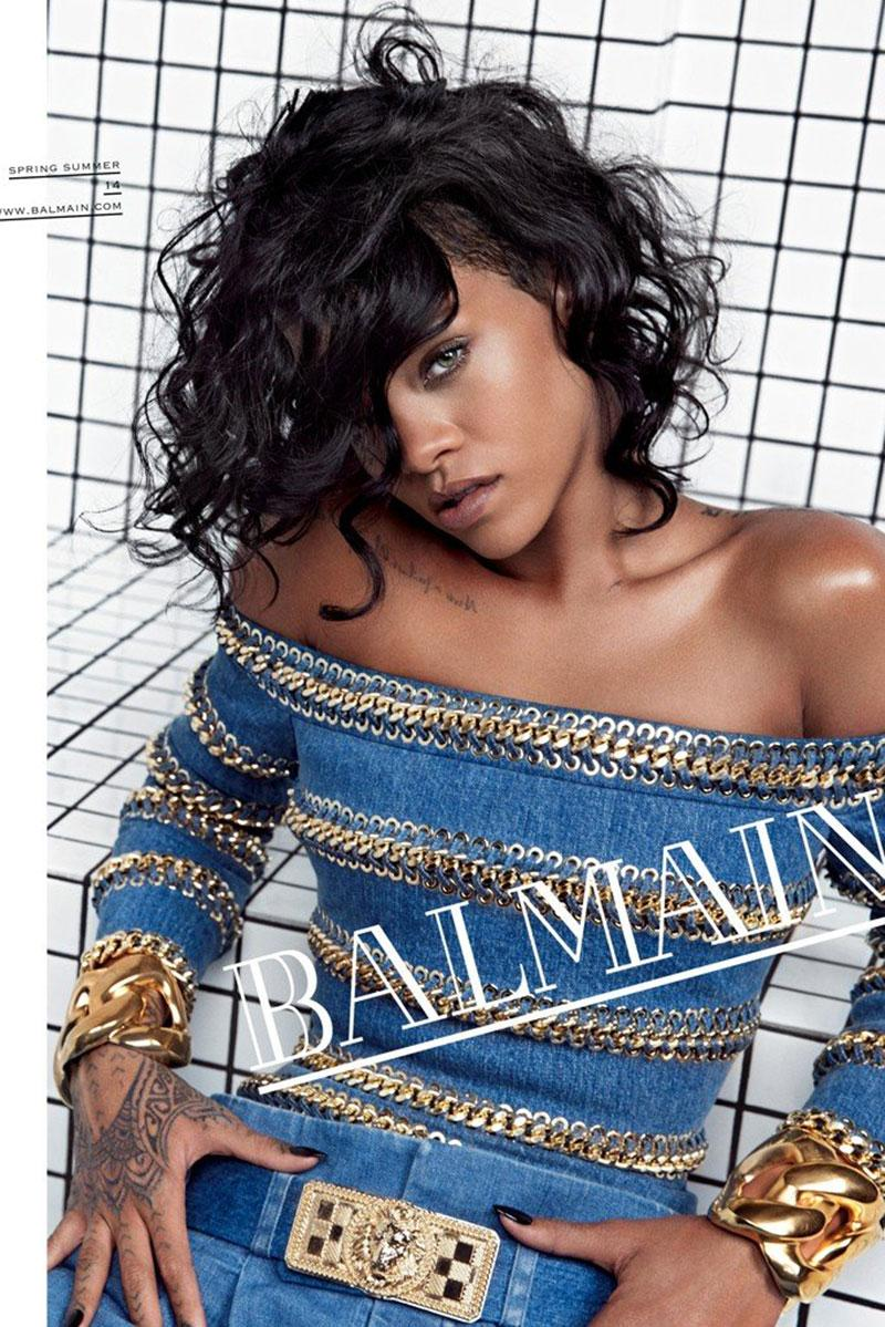 Rihanna Unveiled As The New Face of Balmain 2