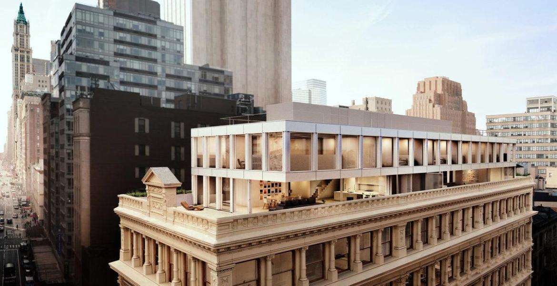 Shigeru Ban's Penthouses Atop a 132-Year Old Tribeca Building