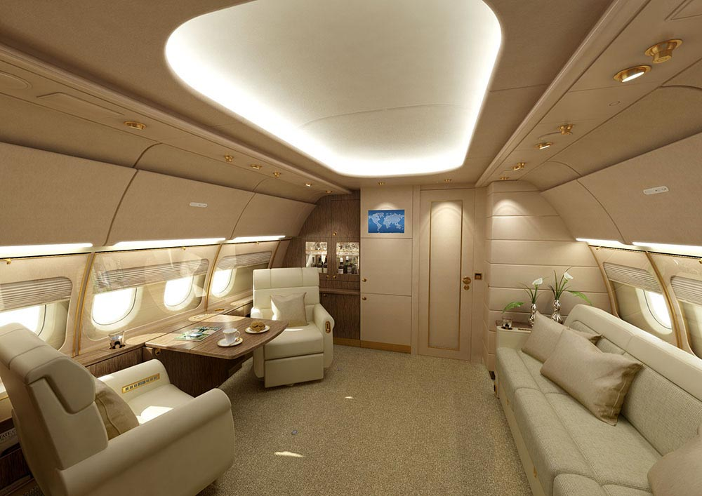 Gallery For Gt Luxury Private Jet Interior Design
