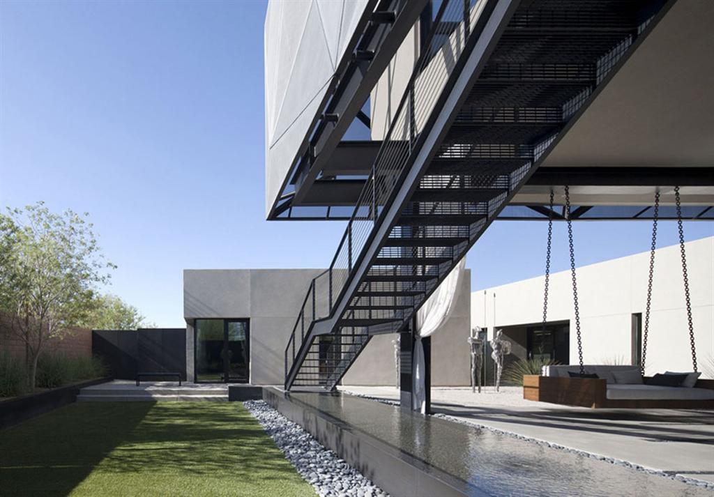 stahl außentreppen assemblage studio tresarca residenz las vegas