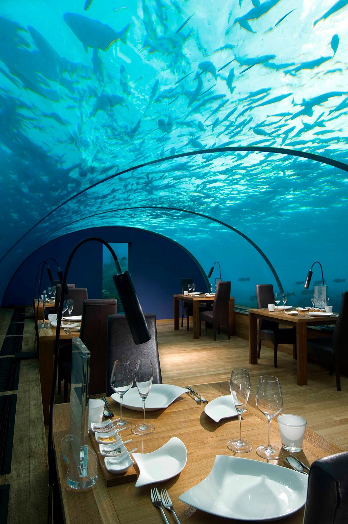 Unterwasser Restaurant x Malediven x Rangali Island 3