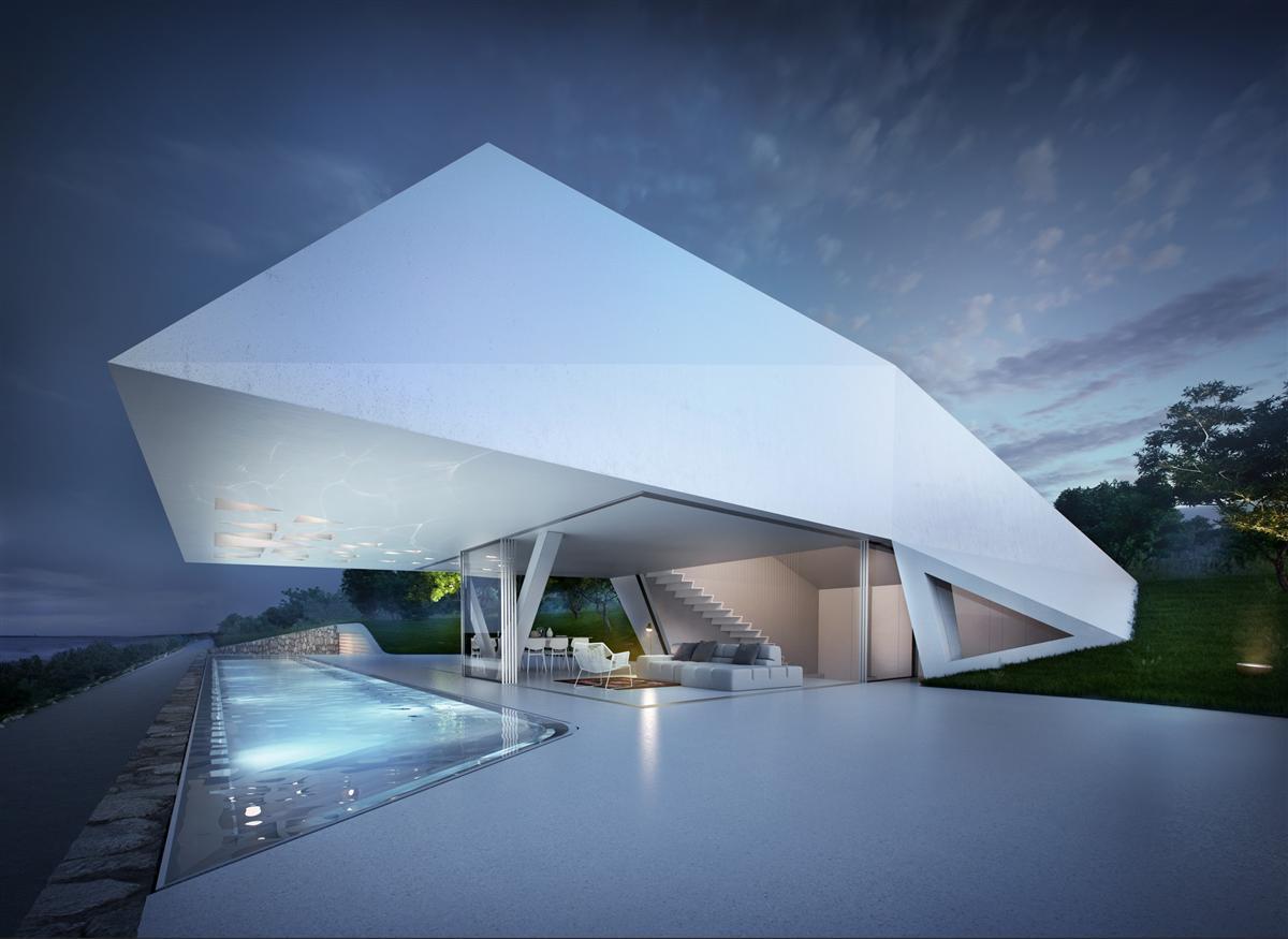 Futuristisch: Villa F by Hornung & Jacobi Architecture 1