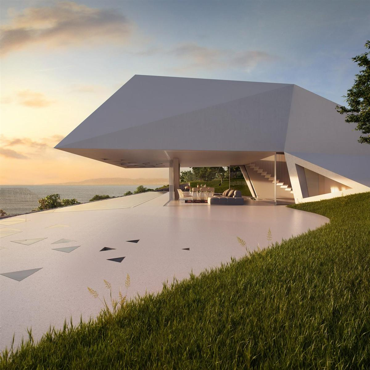 Futuristisch: Villa F by Hornung & Jacobi Architecture 3