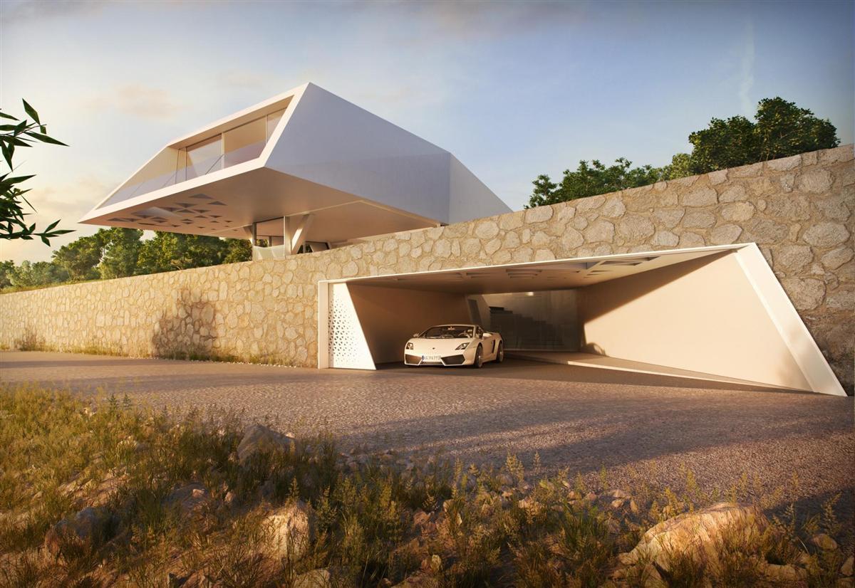 Futuristisch: Villa F by Hornung & Jacobi Architecture 5