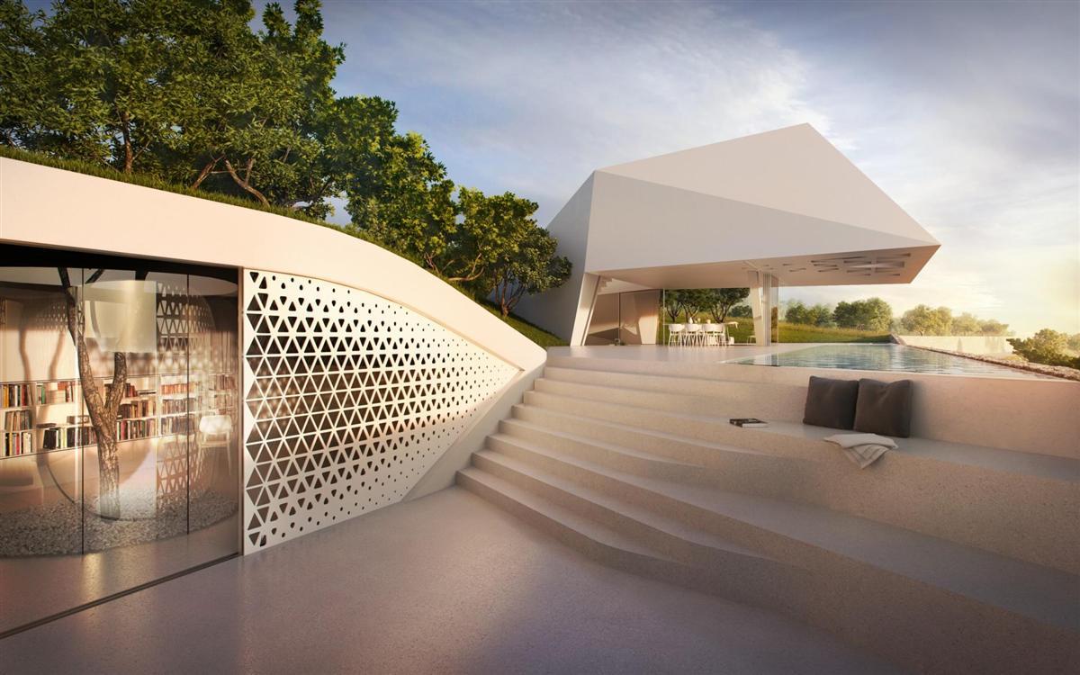 Futuristisch: Villa F by Hornung & Jacobi Architecture 6