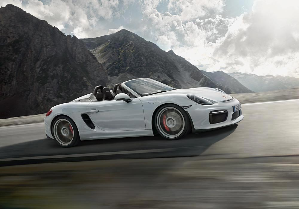 World Premiere Of The New Porsche Boxster Spyder 1