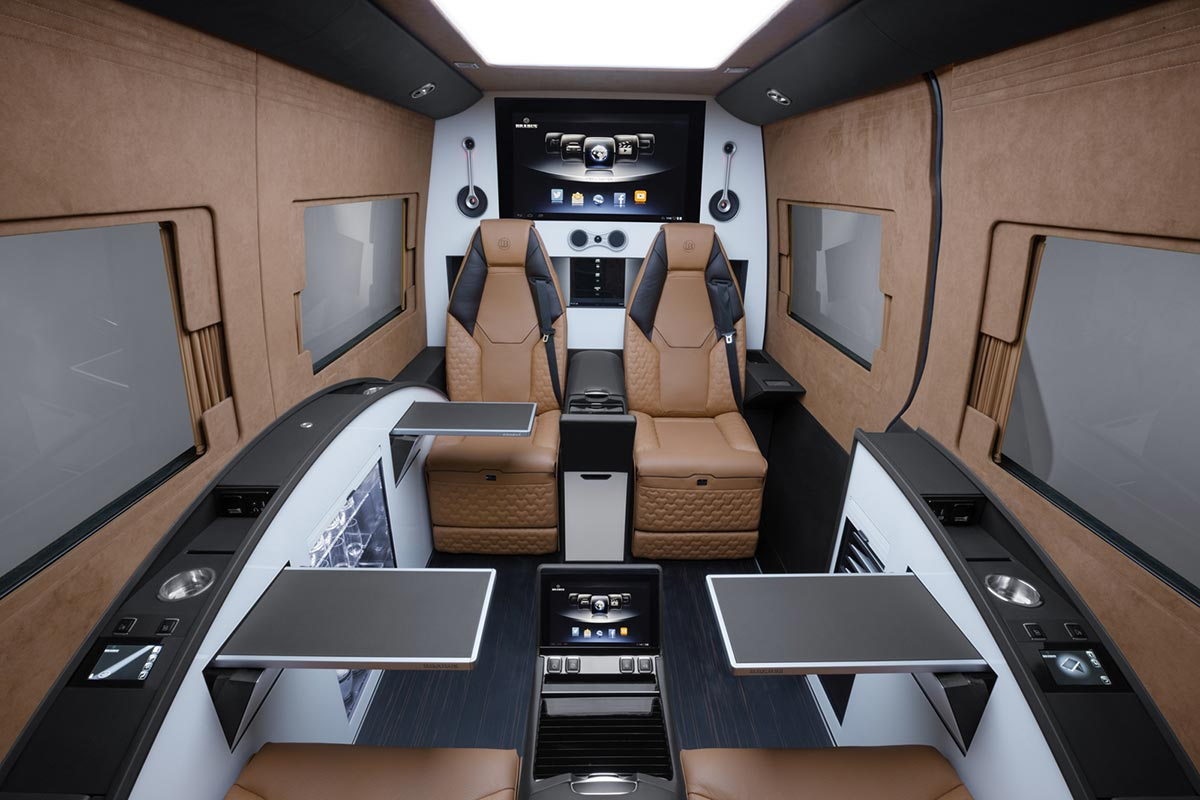 Brabus Turns A Mercedes Sprinter Into A Business Lounge
