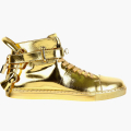 New 100mm High Top Gold Sneaker by Buscemi