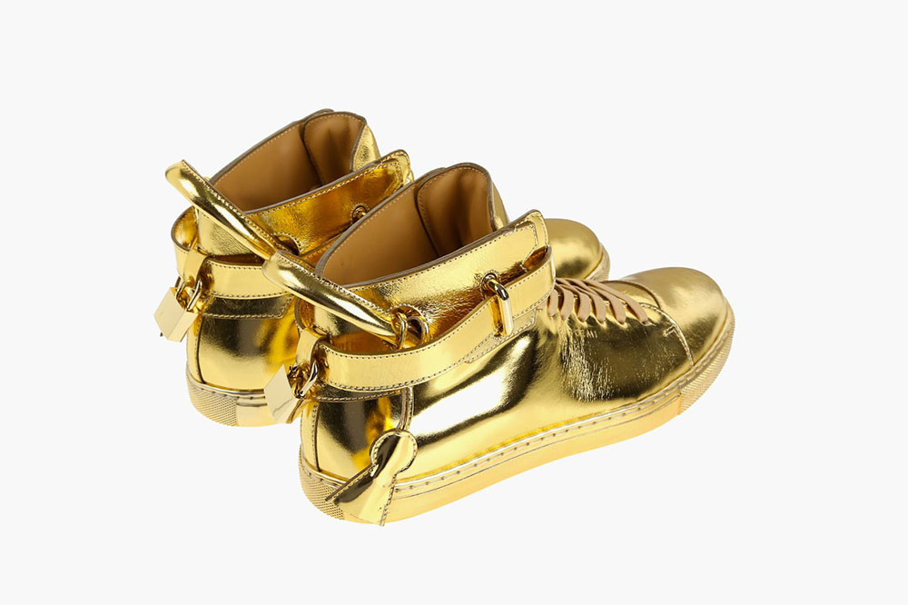 New 100mm High Top Gold Sneaker by Buscemi 3