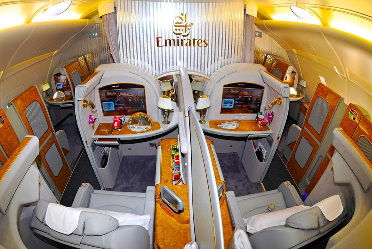Ein $18,000 Dollar Flug in der First Class Suite von Emirates 14