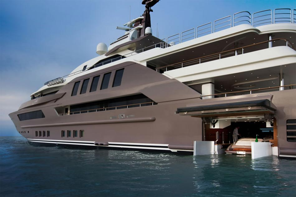 This MegaYacht by CRN Is The World's First Floating Garage 2