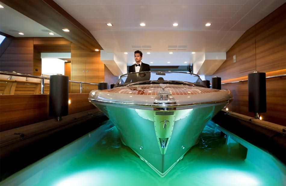 This MegaYacht by CRN Is The World's First Floating Garage 4