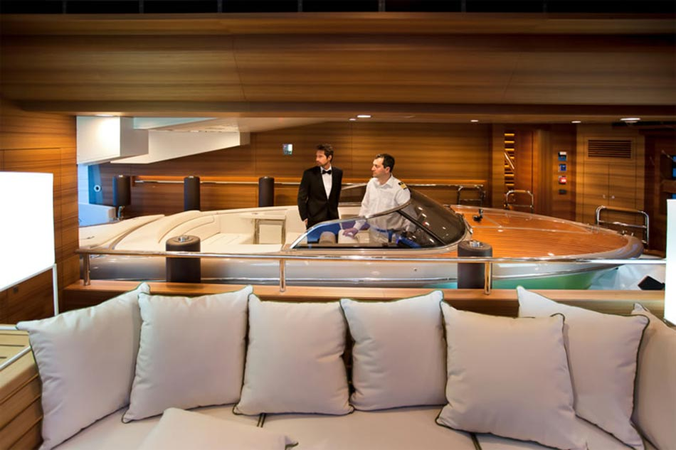 This MegaYacht by CRN Is The World's First Floating Garage 5