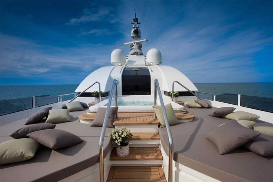 This MegaYacht by CRN Is The World's First Floating Garage 6