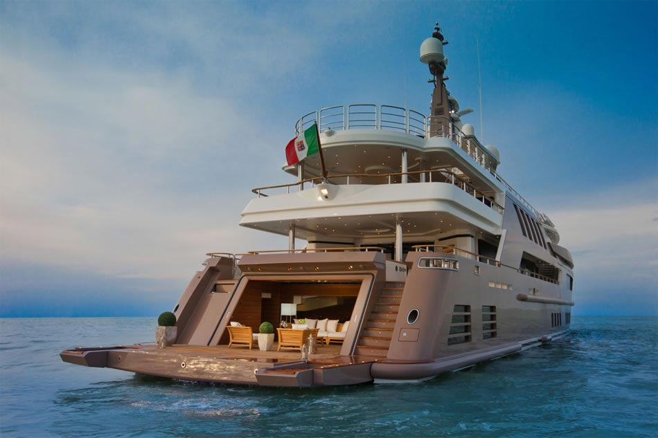This MegaYacht by CRN Is The World's First Floating Garage 7