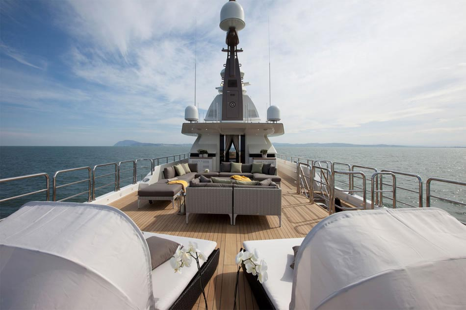 This MegaYacht by CRN Is The World's First Floating Garage 8