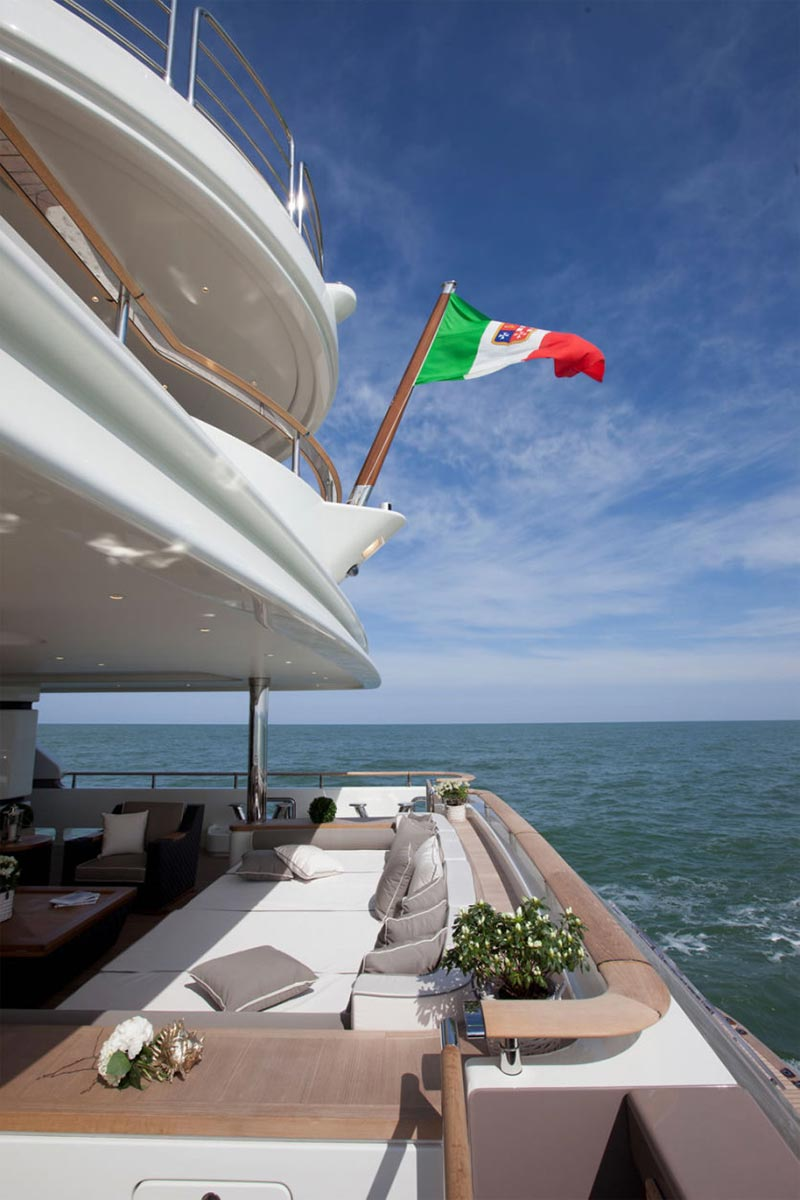 This MegaYacht by CRN Is The World's First Floating Garage 10