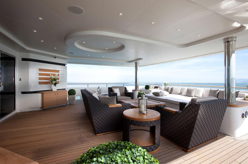 This MegaYacht by CRN Is The World's First Floating Garage 11