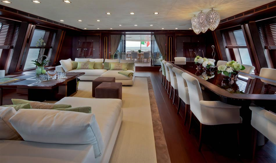 This MegaYacht by CRN Is The World's First Floating Garage 13