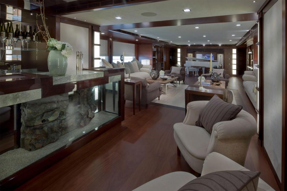 This MegaYacht by CRN Is The World's First Floating Garage 17