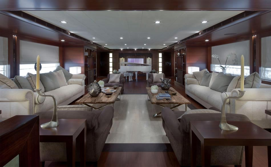 This MegaYacht by CRN Is The World's First Floating Garage 19