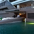 This MegaYacht by CRN Is The World's First Floating Garage