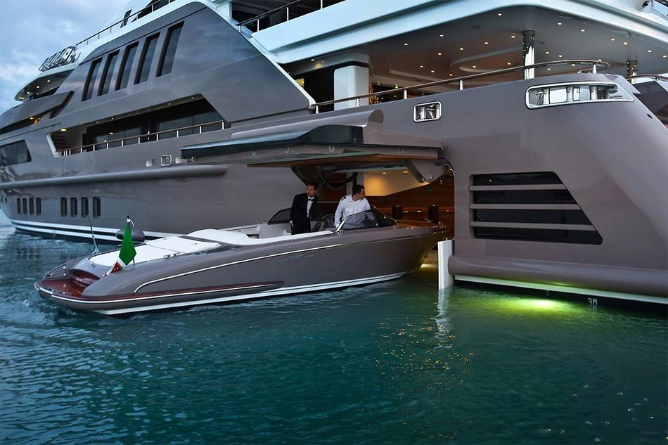 This MegaYacht by CRN Is The World's First Floating Garage 1