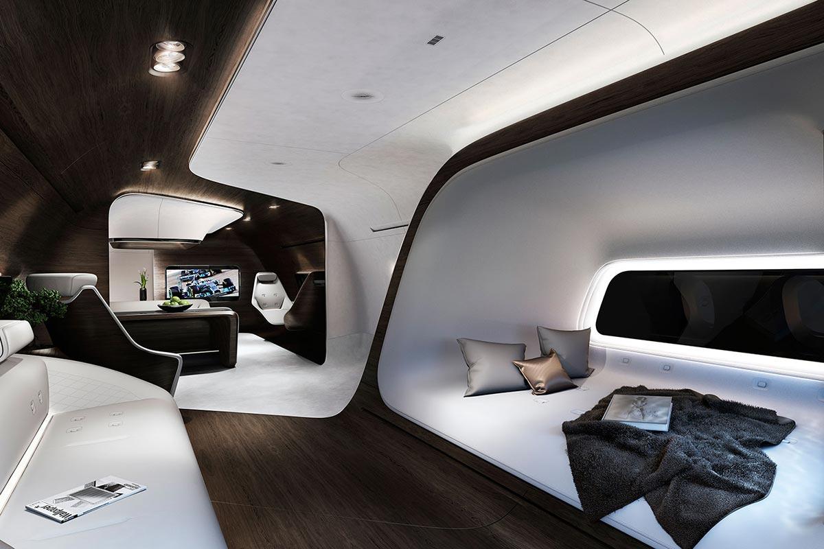 Mercedes-Benz Style & Lufthansa Technik entwickeln moderne Flugzeugkabine 2