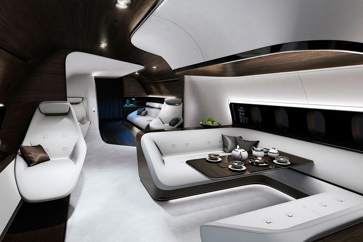 Mercedes-Benz Style & Lufthansa Technik entwickeln moderne Flugzeugkabine 3
