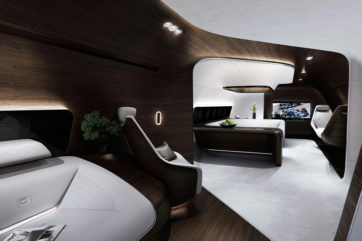 Mercedes-Benz style & Lufthansa Technik develop cutting-edge aircraft cabin 5