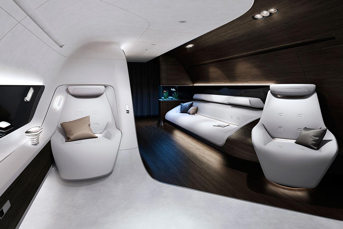 Mercedes-Benz Style & Lufthansa Technik entwickeln moderne Flugzeugkabine 1