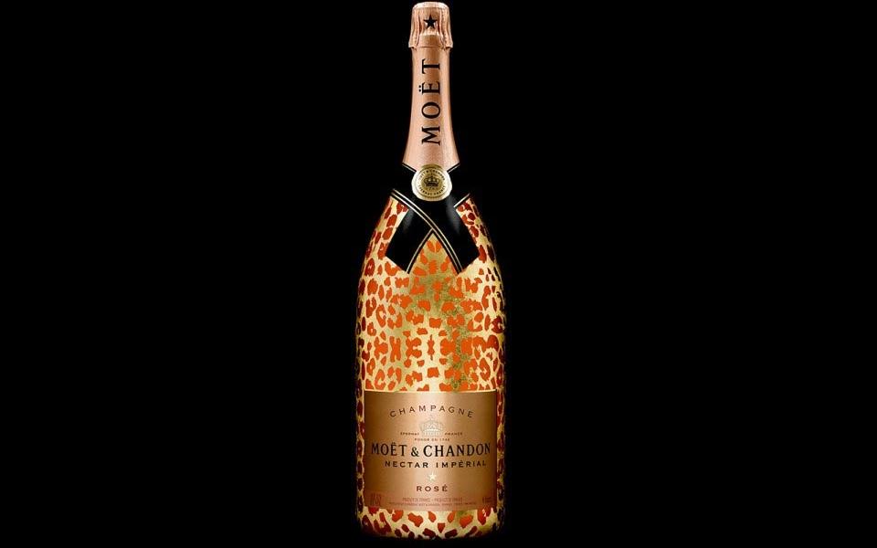 Moët & Chandon Nectar Impérial Rosé Leopard Luxury Edition Methuselah Bottle