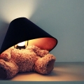 Teddy Bear Lamp: He sits quietly on your shelf
