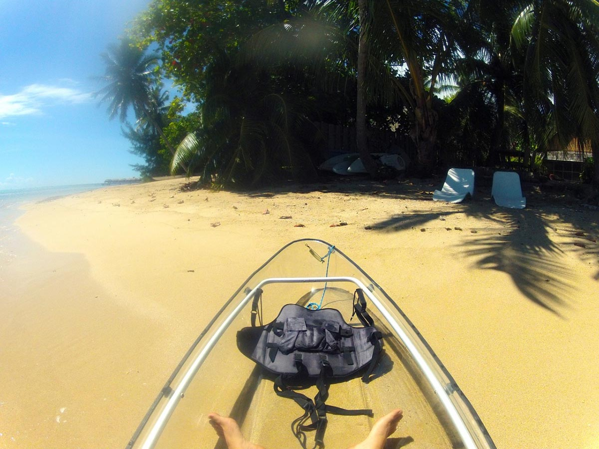 Erkunde die Meere mit diesem transparenten Kayak 3