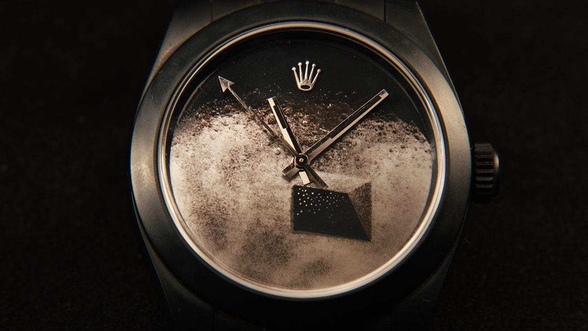 """The Black Moon"" Rolex by Daniel Arsham 5"