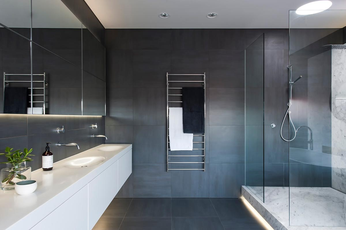 Award-winning monochromatic Bathroom by Minosa Design 2
