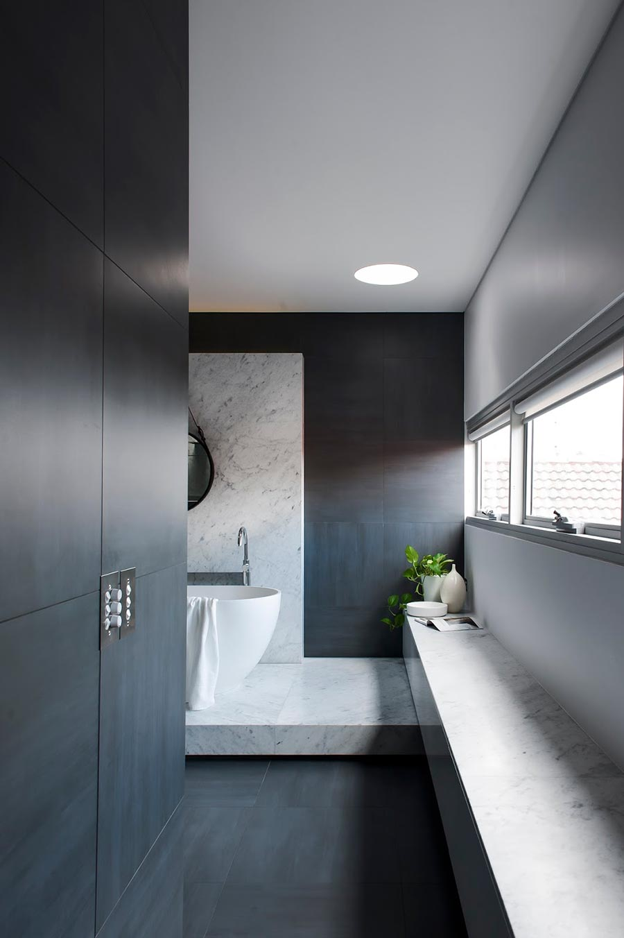 Award Winning Monochromatic Bathroom By Minosa Design