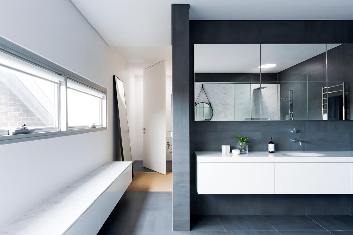Award-winning monochromatic Bathroom by Minosa Design 7