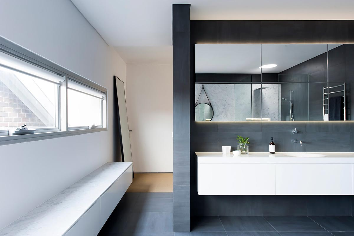 Award-winning monochromatic Bathroom by Minosa Design 8