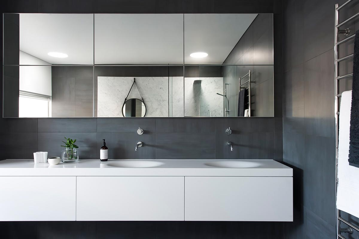 Award-winning monochromatic Bathroom by Minosa Design 9