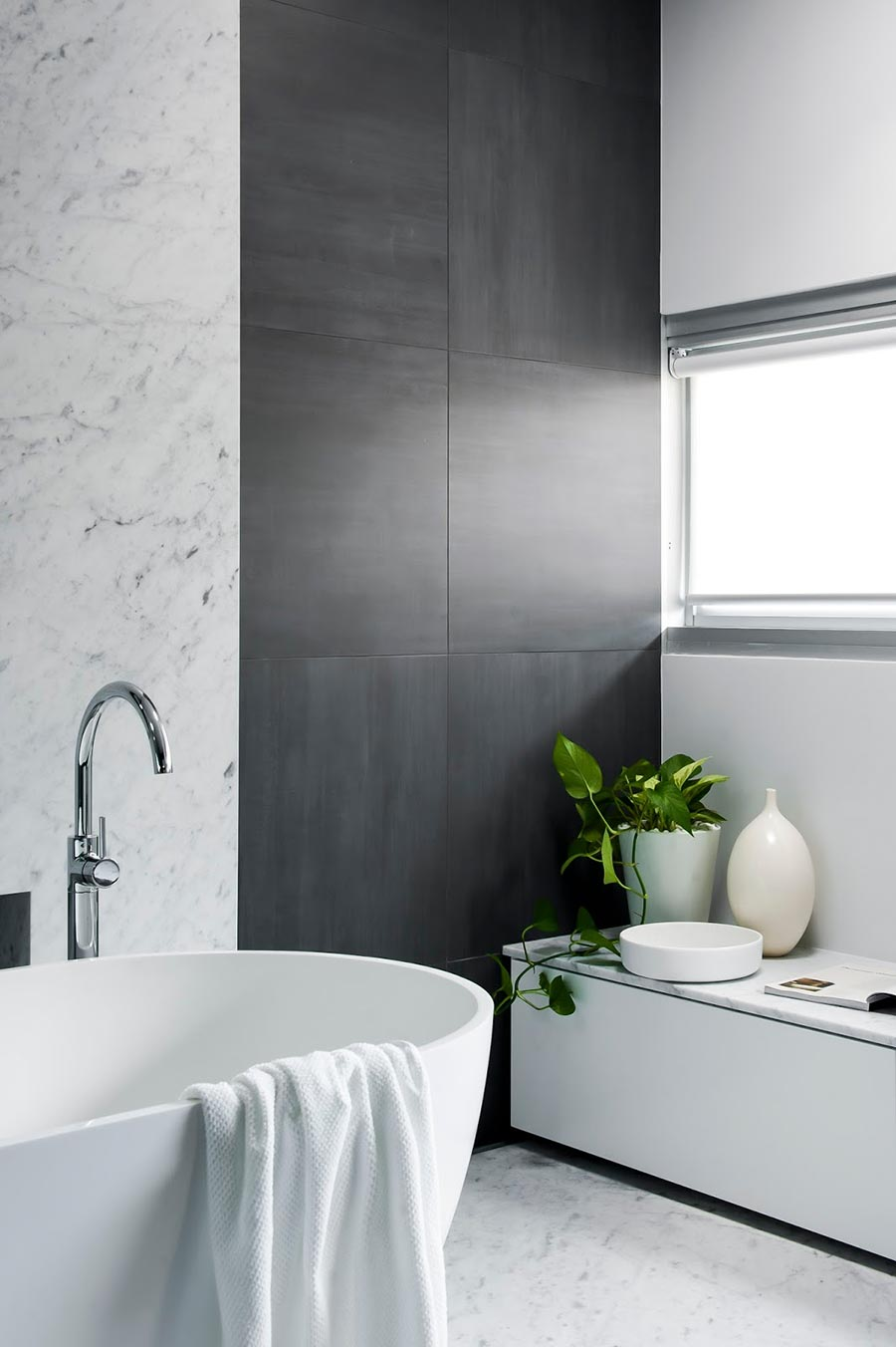 Award-winning monochromatic Bathroom by Minosa Design 10